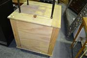 Sale 8093 - Lot 1498 - Fitted Lift Top Box on Castors