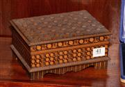 Sale 8107B - Lot 41 - A Vintage timber jewel box with extensive carved decoration