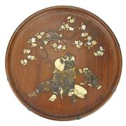 Sale 8342 - Lot 61 - Japanese Mother of Pearl Inlaid Tray