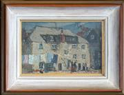 Sale 8459 - Lot 567 - Richard Hayley Lever (1876 - 1958) - Street Scene 14.5 x 22.5cm
