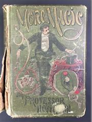 Sale 8539M - Lot 14 - Professor Hoffmann (Angelo Lewis), More Magic. London, Routledge, 1890. First Edition. Original green cloth with illustrations in...