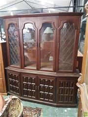 Sale 8566 - Lot 1788 - Timber Bookcase with Glass Panel Doors