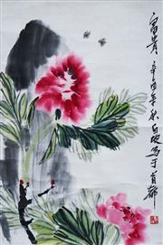 Sale 8821A - Lot 5063 - Chinese School - Wildflowers & Insects, c1960 66 x 44cm