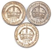 Sale 8915 - Lot 320 - THREE SILVER 1937 CROWNS; total wt. 84.67g.