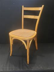 Sale 8971 - Lot 1093 - Set of Six Natural Ladder Back Dining Chairs (H:88 x W:45 x D:53cm)