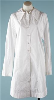 Sale 9090F - Lot 142 - A JOSEPH SHIRT DRESS; featuring two side zips to hip height, 100% cotton poplin, size 38.