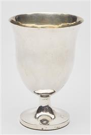 Sale 9085S - Lot 39 - Early 20th Century Sterling Silver cup of thistle form with gilt interior, weighted, height 11cm