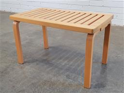 Sale 9171 - Lot 1050 - Blondewood occasional table by Anibou (h:45 x w:72 x d:40cm)