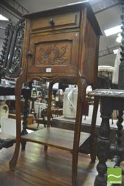 Sale 8338 - Lot 1480 - French 19th Century Bedside Locker (Missing Marble Top)