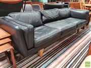 Sale 8435 - Lot 1063 - Wikkelso V11 3 Seater Sofa with Oak Legs for Great Dane