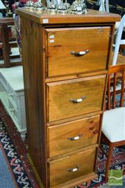 Sale 8532 - Lot 1446 - Timber Filing Cabinet of Four Drawers