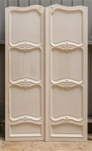 Sale 8677A - Lot 85 - A pair of French internal doors painted white, each of four panels, H 232 x W 139cm (combined)