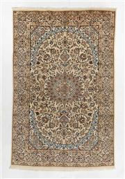 Sale 8770C - Lot 70 - A Persian Nain Super Fine Wool And Silk Inlaid Pile, 300 x 192cm