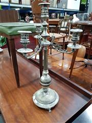 Sale 8831 - Lot 1060 - Pair of Silver Plated Candle Sticks