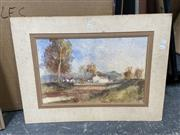 Sale 9077 - Lot 2087 - John Tiplady Landscape with Hunters, watercolour (af - foxing),