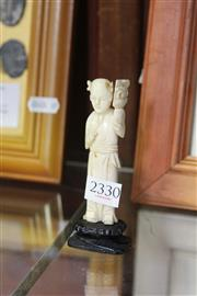 Sale 8162 - Lot 41 - Ivory Carved Figure of a Girl