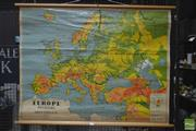 Sale 8260 - Lot 1034 - Chas. H. Scally & Co. Vintage School Map of Europe