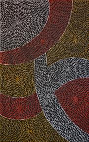 Sale 8301 - Lot 531 - Mary Rumble Pitjara (1957 - ) - Kangaroo Dreaming 155 x 95cm