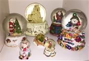 Sale 8338A - Lot 162 - A group of snow globes, all Christmas themed