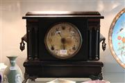 Sale 8330T - Lot 150 - Sessions Timber Mantle Clock