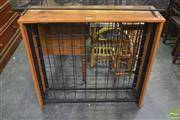 Sale 8338 - Lot 1654 - Timber and Metal Wine rack