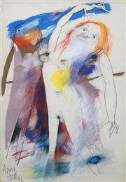 Sale 8410A - Lot 5010 - Anne Hall (1945 - ) - Untitled, 1966 (Two Models) 101.5 x 70.5cm (sheet size)