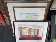 Sale 8573 - Lot 2043 - Collection of (4) Original Artworks, various sizes