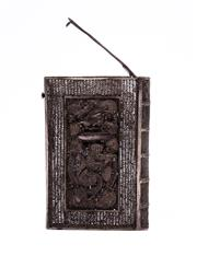 Sale 8575J - Lot 168 - A Sterling Silver Chinese filigree card case in book shape form with dragon decoration to face, 8 x 5.5cm approx (some faults)