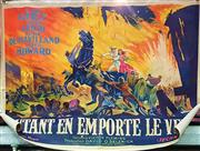 Sale 8659 - Lot 2001 - Gone With The Wind: French Movie Poster on Canvas Autant en Emporte le Vent -