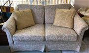 Sale 8774A - Lot 369 - A two seater and two single seater fabric upholstered lounge suite