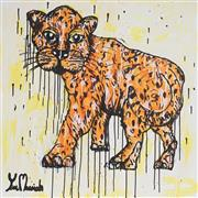 Sale 9062A - Lot 5031 - Yosi Messiah (1964 - ) - Fire Tiger 85 x 85 cm