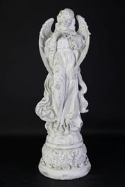 Sale 8905S - Lot 693 - A composite shabby chic figure of an angel. Height 72cm