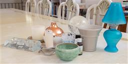 Sale 9165H - Lot 152 - A small group of candle and light related items and a snow globe.