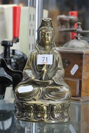Sale 8261 - Lot 71 - Vintage Bronze Chinese Buddha