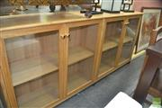 Sale 8331 - Lot 1365 - Tasmanian Oak Four Door Bookcase or Display Cabinet on Casters