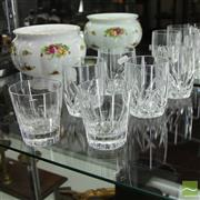 Sale 8365 - Lot 46 - Stuart Crystal Jasper Conran Set of 2 Tumblers with 4 Waterford Marquis Examples