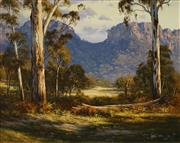 Sale 8510 - Lot 509 - Robyn Collier (1949 - ) - Gums on the River Flat - Wolgan 39.5 x 50cm