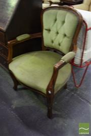 Sale 8532 - Lot 1305 - French Style Carver with Upholstery