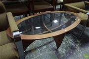 Sale 8550 - Lot 1069 - Oval G-Plan Atmos Coffee Table with Glass Shelf