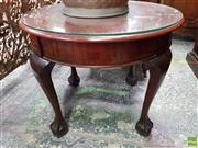 Sale 8559 - Lot 1056 - Early 20th Century Mahogany Table, with circular top & cabriole legs on ball-and-claw feet