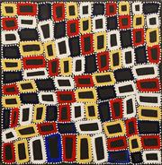 Sale 8647 - Lot 504 - Walala Tjapaltjarri (1960 - ) - Tingari, 2012 63 x 62cm (stretched and ready to hang)
