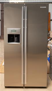 Sale 8677A - Lot 87 - A Westinghouse two-door fridge/freezer (WSE6070SB) with ice/water feature (as new), together with a smaller Pacific by gorenje freezer.
