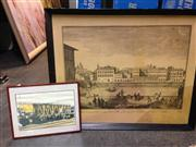Sale 8663 - Lot 2065 - 2 Works: Framed Print of French Engraving Plus Photo of a Coal Wagon