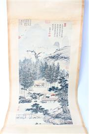 Sale 8739C - Lot 82 - Set Of Three Chinese Scrolls Incl Village Scene