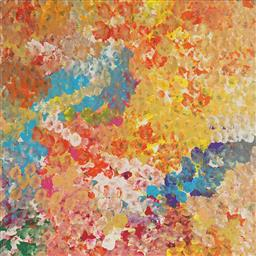 Sale 9188A - Lot 5080 - JANET GOLDER KNGWARREYE (1973 - ) - Yam Flower 60 x 60 cm (stretched and ready to hang)