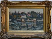 Sale 8940J - Lot 72 - Will Ashton (1881 - 1963) - Sydney Harbour, oil on canvas, 24x36cm, certificate of authenticity verso- fully guaranteed as original.
