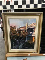 Sale 8981 - Lot 2005 - Artist Unknown Sunset over the Terraces  acrylic on board, 60 x 50cm, inscribed verso