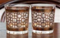 Sale 9134H - Lot 37 - A pair of Waterford Mad Men whiskey tumblers , height 10cm