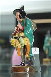 Sale 8086 - Lot 1 - Royal Doulton Figure The Mask Seller Signed by Michael Doulton