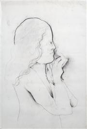 Sale 8410A - Lot 5012 - Anne Hall (1945 - ) - Untitled (Profile of a Woman) 101.5 x 70.5cm (sheet size)